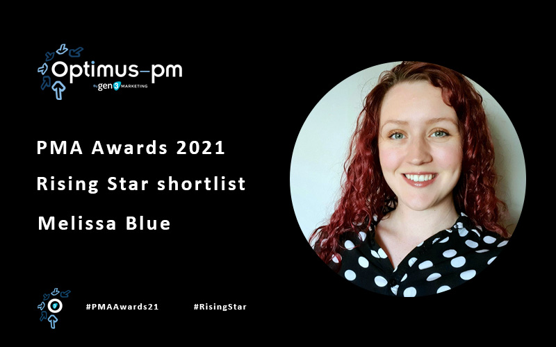 Melissa Blue nominated for industry rising star at this year's PMA Awards.
